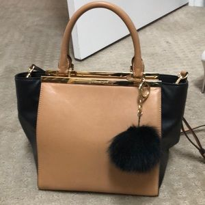 Stunning Michael Kors leather zip top satchel.